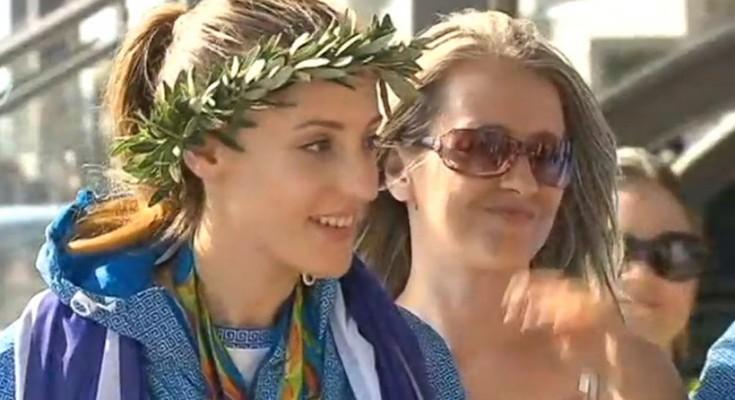 Gold medalist Anna Korakaki receives hero's welcome in Athens