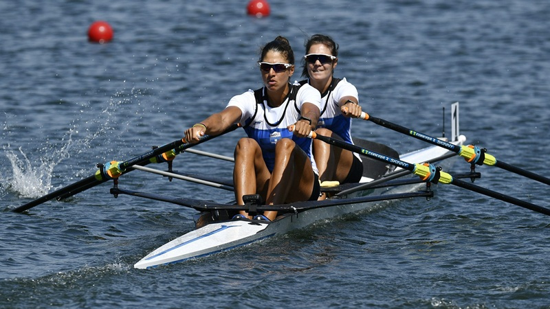 In the final the two Greek rowing crews