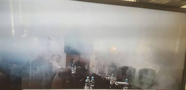 Self Determination Party throws tear gas in parliament
