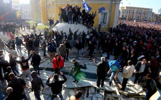 Rare precedent in Albania, a political party is fined