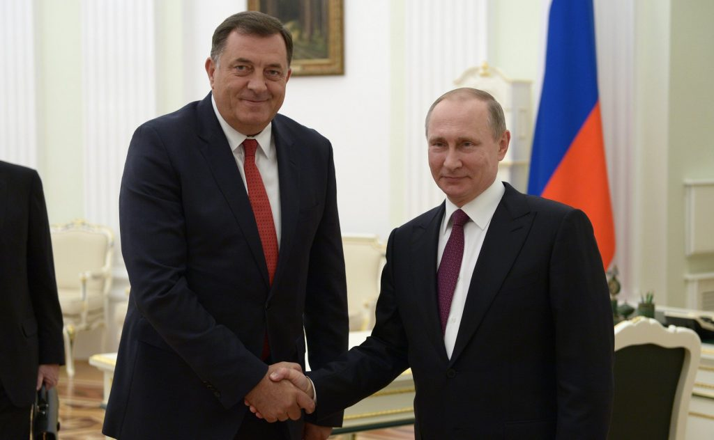 Putin and Dodik discuss the political situation in the region