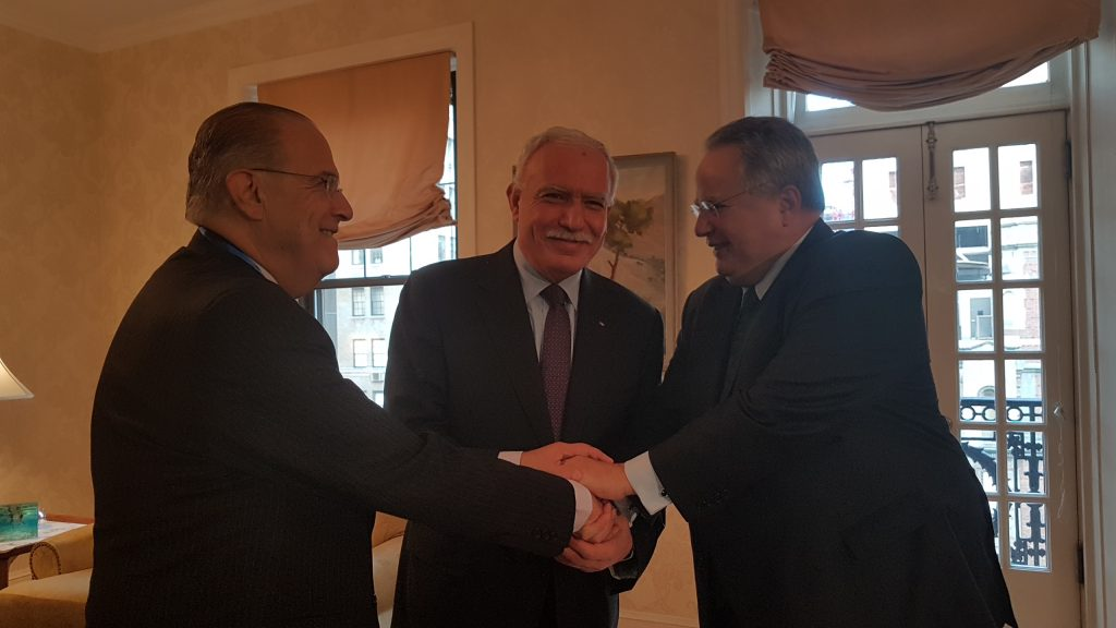 Historic first Greece – Cyprus – Palestine tripartite meeting takes place in New York