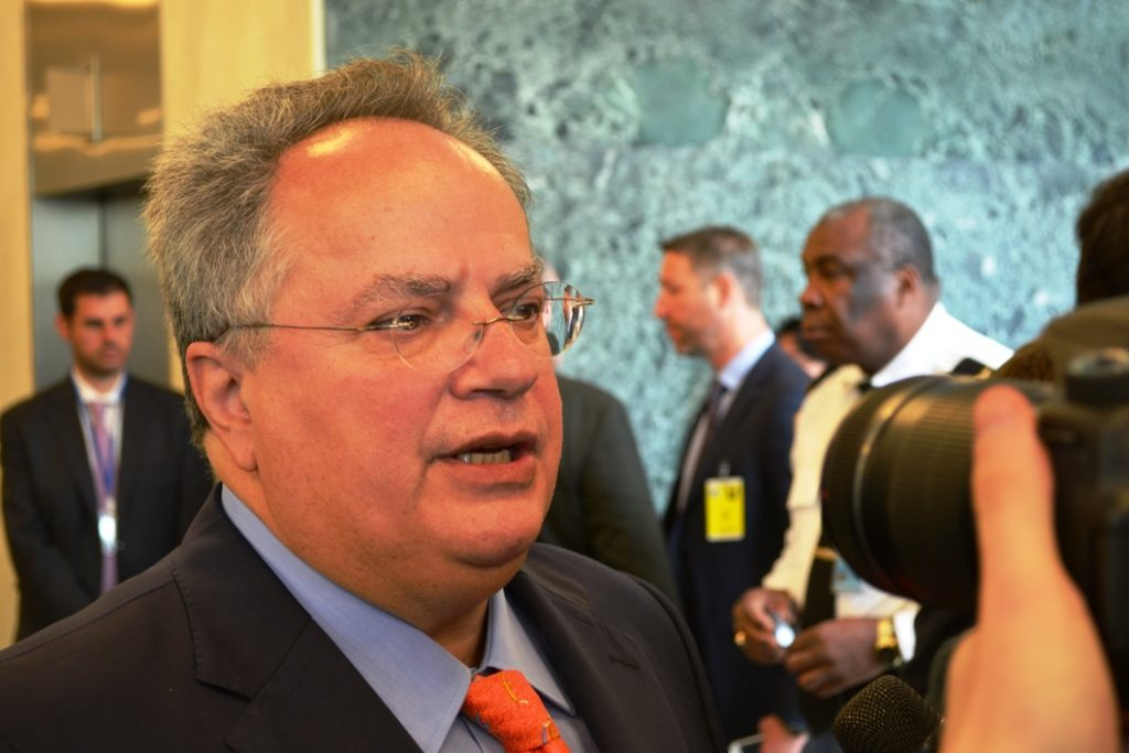 Nikos Kotzias to hold series of contacts in New York