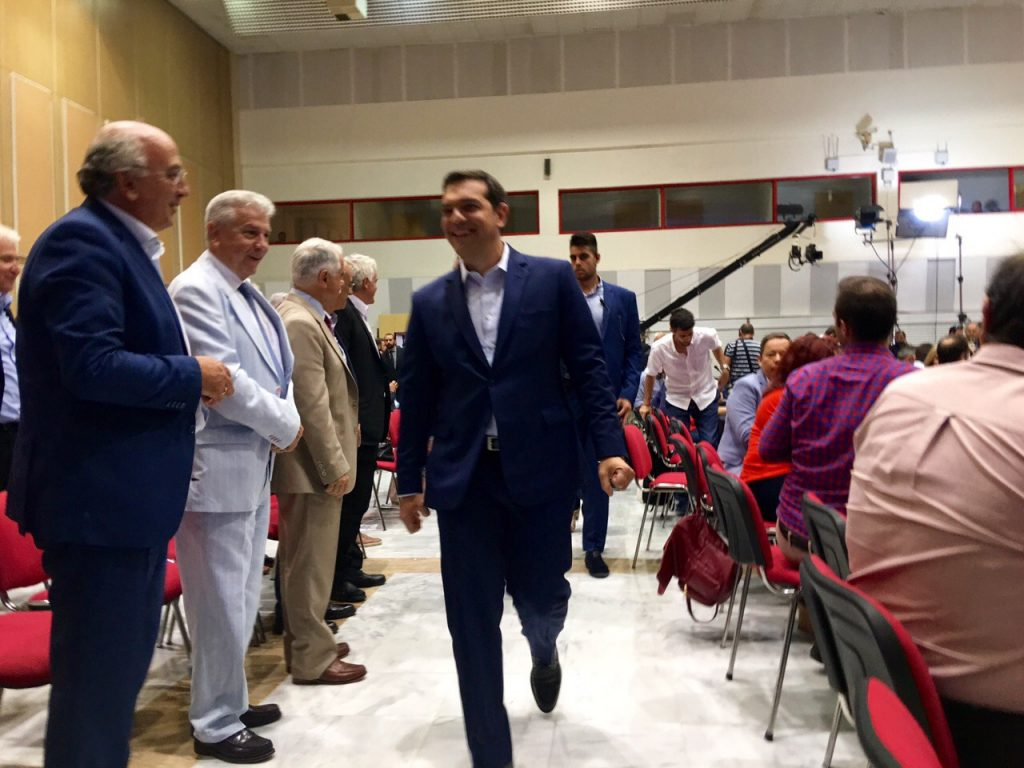 Journalists' introversion dominate Alexis Tsipras' press conference