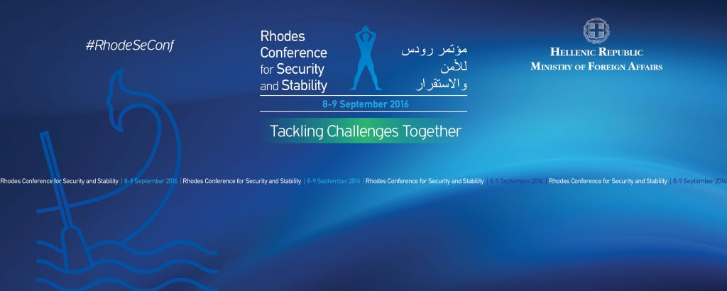 Conference on Security and Stability begins 8 September in Rhodes