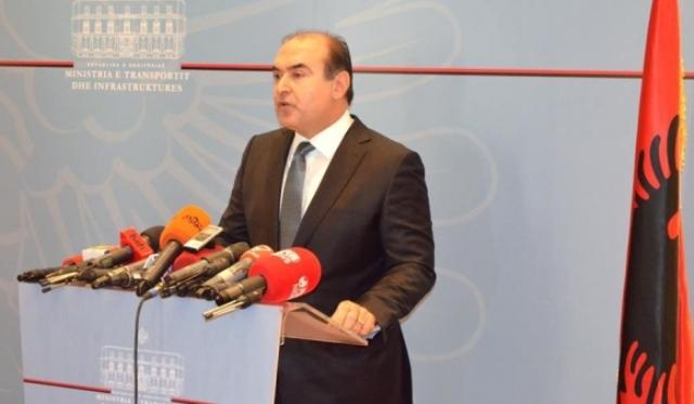 Albanian Minister of Transport, Edmond Haxhinasto resigns