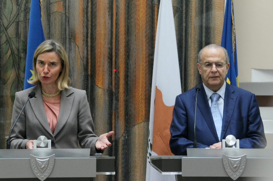 FM Kasoulides met with EU High Representative for Foreign Affairs and Security Policy Federica Mogherini