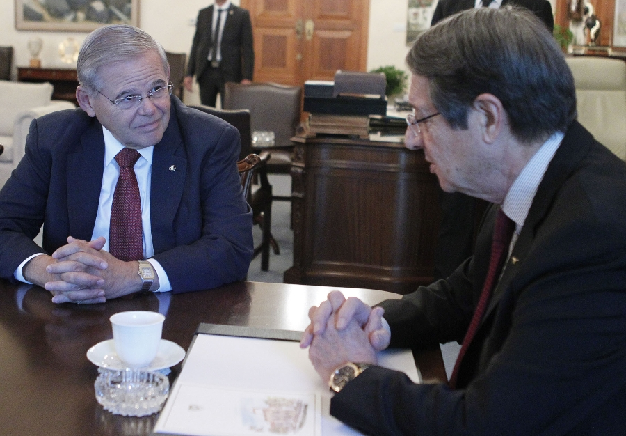 Anastasiades receives U.S. Senator Robert Menendez