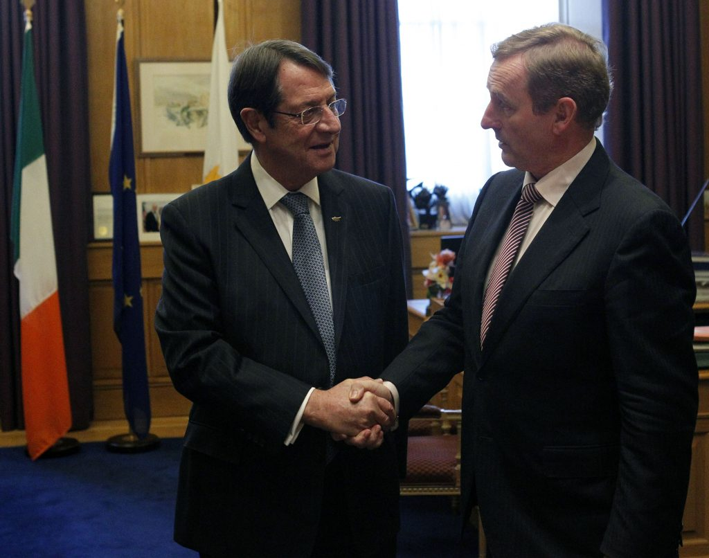 President Anastasiades had a meeting with the Prime Minister of Ireland