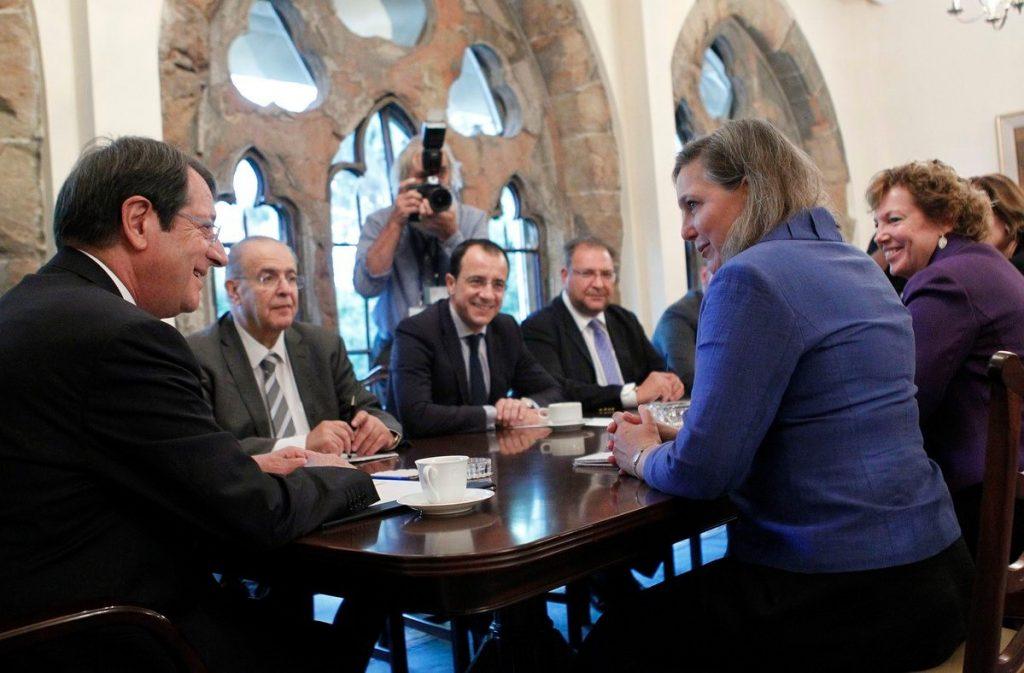 President Anastasiades has meeting with Victoria Nuland
