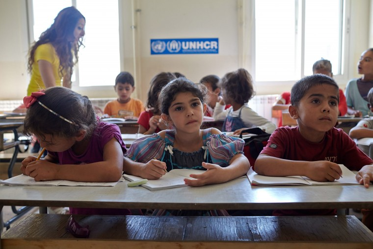 A new school year begins for the refugee children
