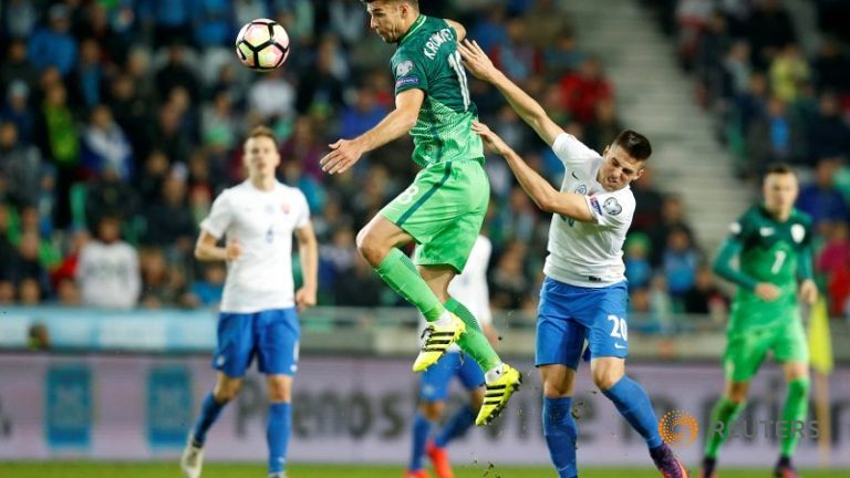 Slovenia beat Slovakia to get fist win in World Cup qualifiers