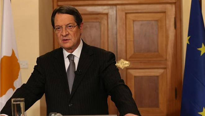 Anastasiades reiterates conviction that there will be no interim agreement on the Cyprus probelm