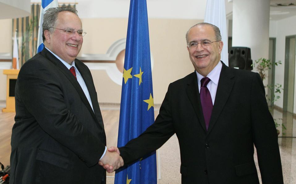 Kotzias – Kasoulides discuss the Cyprus Issue