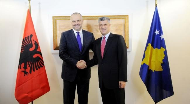 Kosovo and Albania, a great example of commercial exchanges, says president Thaci