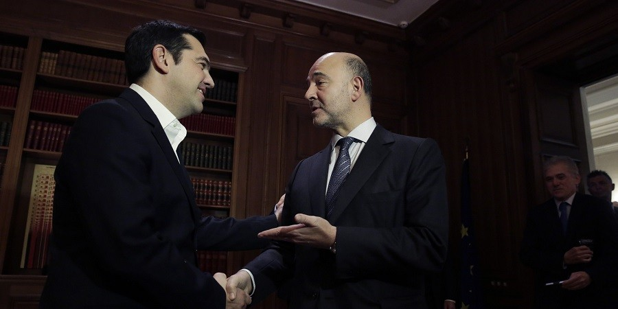 Moscovici, Draghi boost Greek debt relief hopes