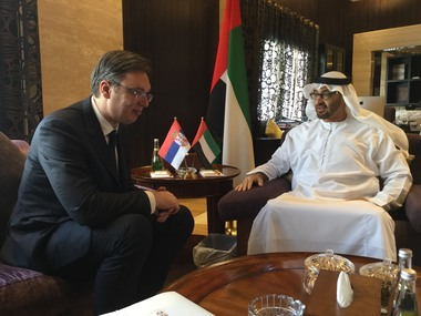Vucic meets with Abu Dhabi Crown Prince
