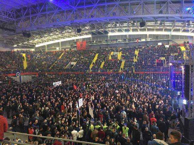 Albanian political parties have ethnically based demands