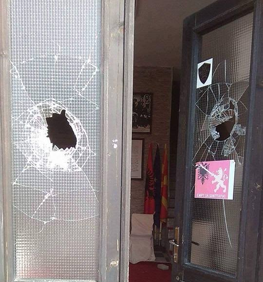 """House of the Alphabet Congress in Manastir is desecrated: """"Death to Albanians!"""""""