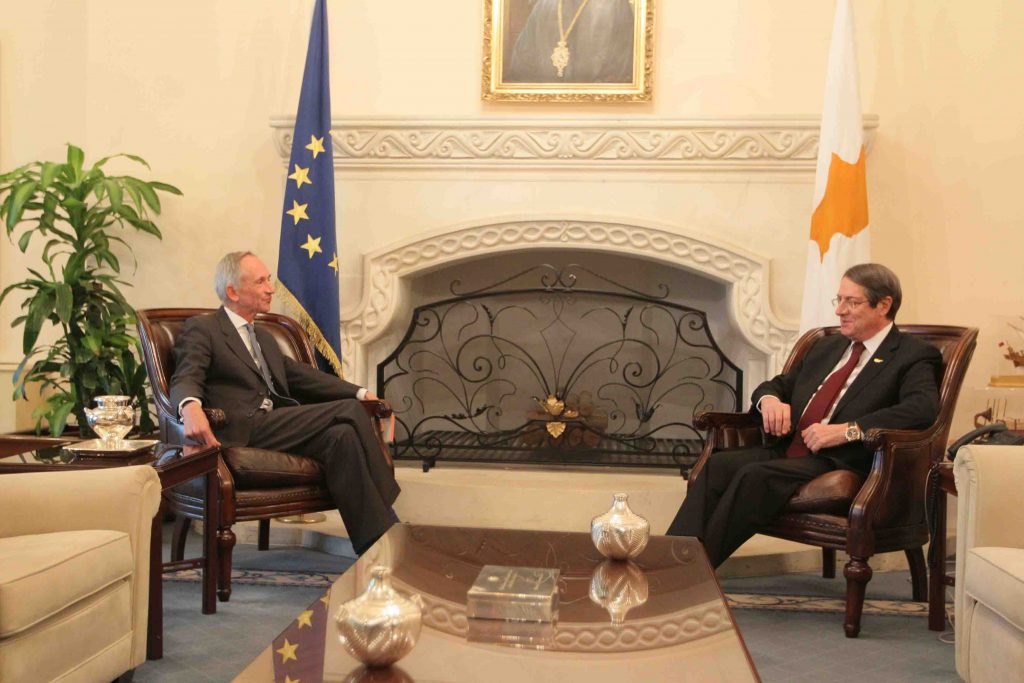 President Anastasiades received the High Commissioner of the United Kingdom
