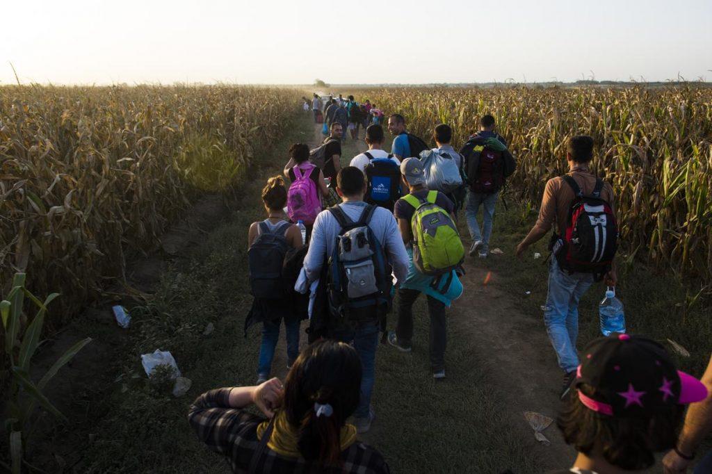 Migrants try to break through police barricade and cross into Croatia