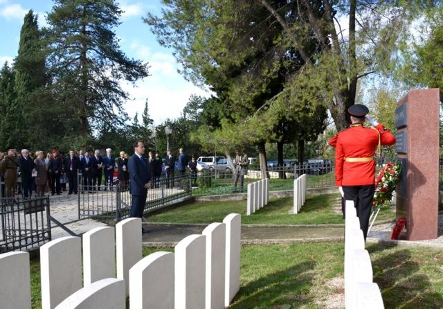 British soldiers who died during the Second World War in Albania are commemorated