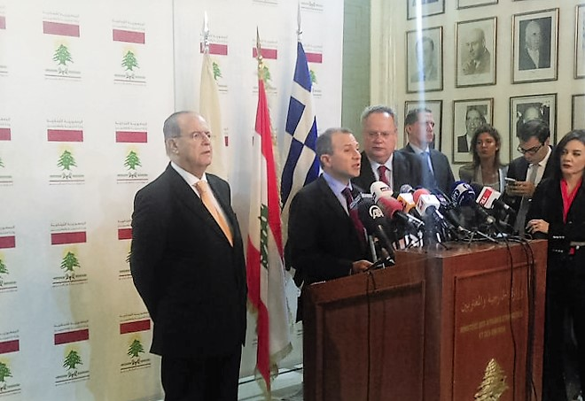 Foreign Ministers of Lebanon, Greece and Cyprus hold trilateral meeting in Beirut, discuss developments in Eastern Mediterranean
