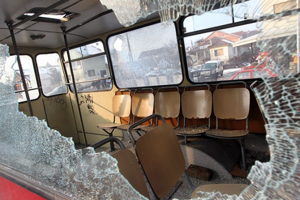 Violent incident in Skopje, thugs attack a passenger bus