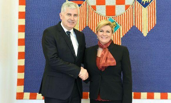 Croatian president receives Croat member of Bosnian presidency