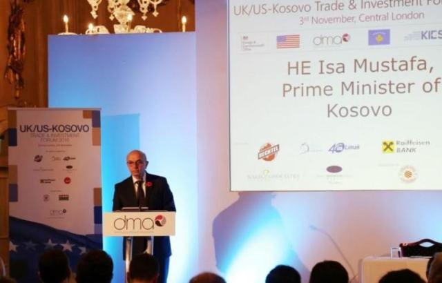Prime Minister Mustafa presents Kosovo's achievements in the UK
