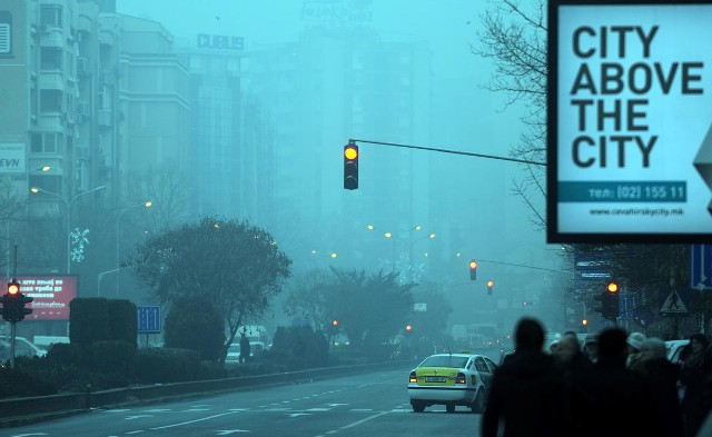 Level of air pollution in Skopje increases
