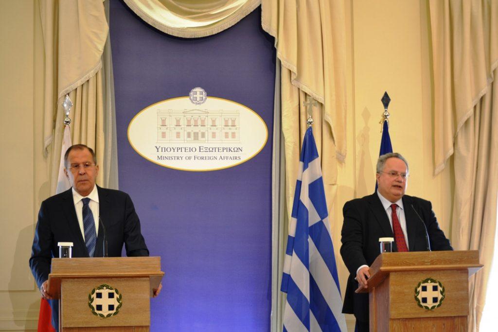Kotzias – Lavrov send Common Message to Respect International Law