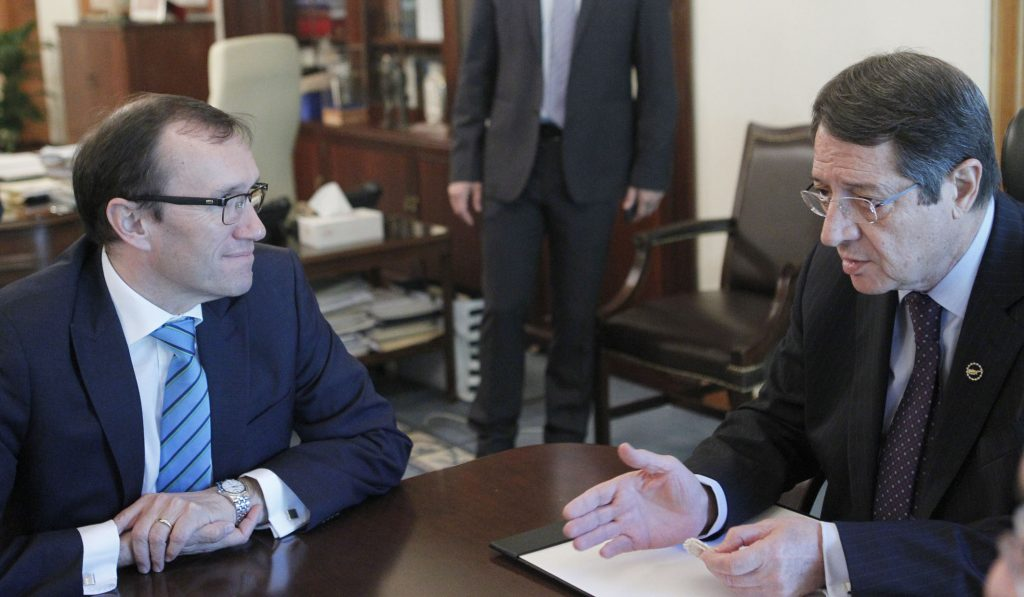 Eide says he has great expectations for the talks in Mont Pelerin
