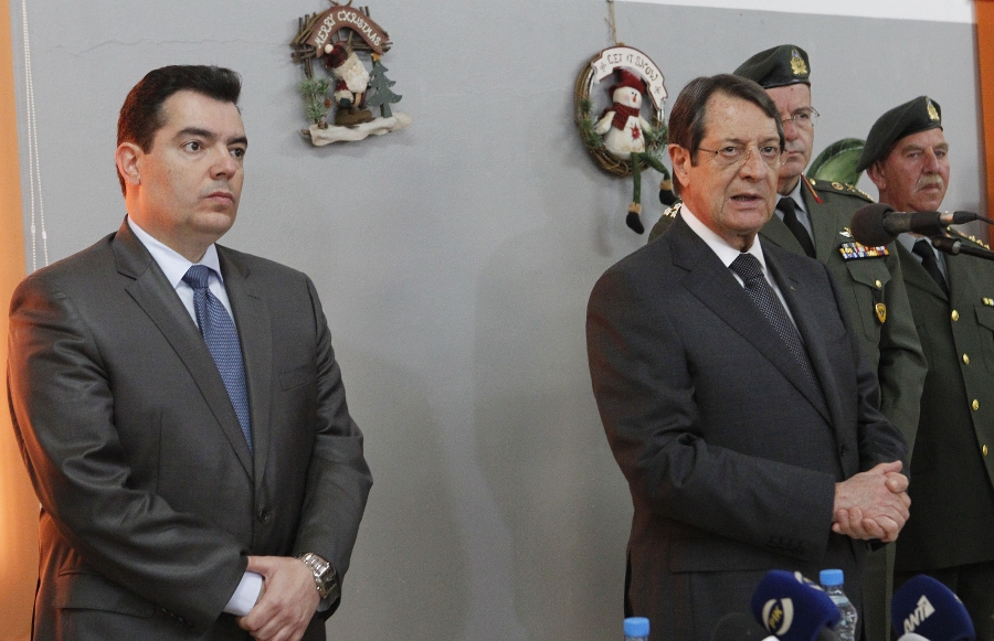Cyprus President commented on the developments in the negotiations on the sidelines of his visit to 'Elias Papakyriacou' military camp