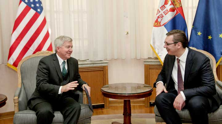 Vucic thanked Biden for support over EU accession