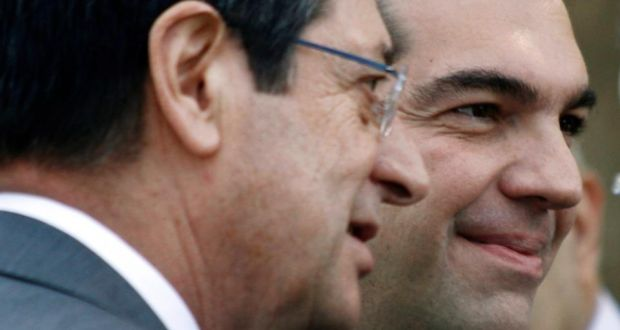 Tsipras and Anastasiades discuss the Cyprus issue in Brussels