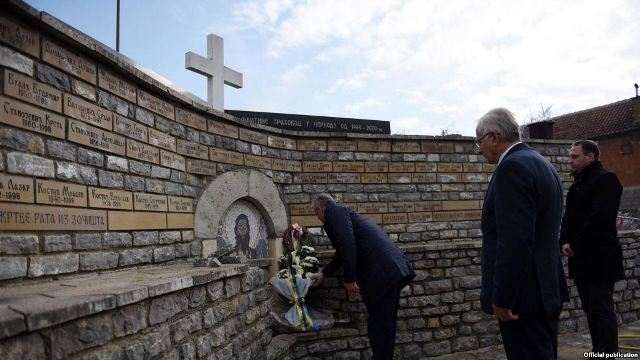 Killings between Serbs and Albanians, Kosovo's president pays homage to all