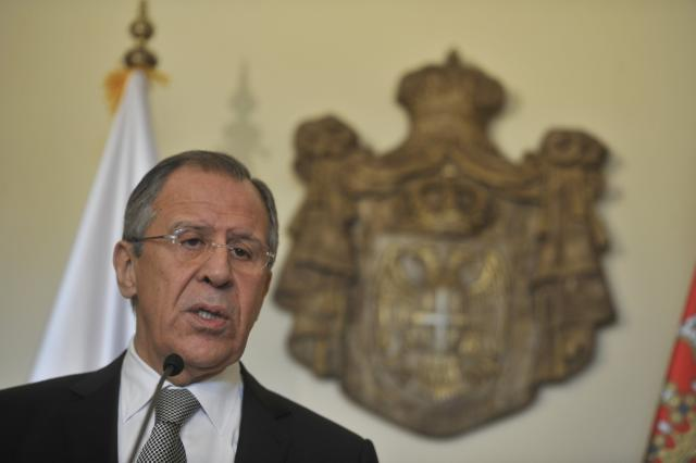 Russia will not interfere in Serbia's internal affairs, Lavrov says in Belgrade