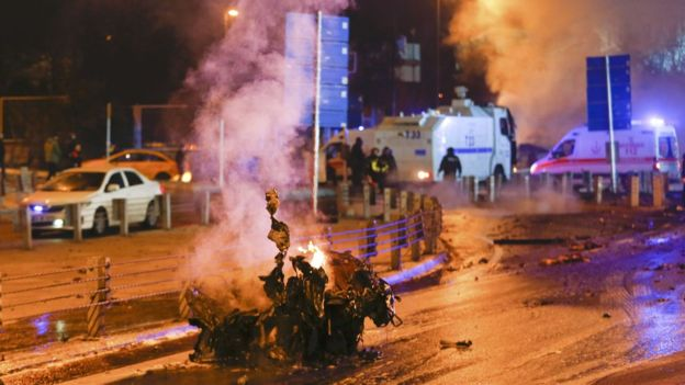 Interior Minister: 38 killed, 155 wounded in twin bombings in Istanbul