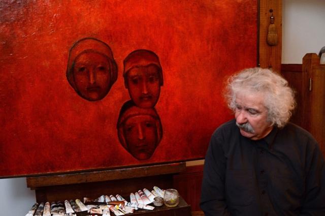 Painter Omer Kaleshi brings 24 paintings in Skopje