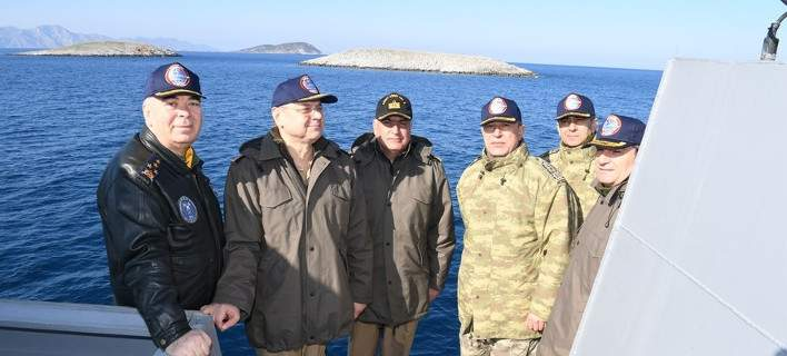 Turkish Chief of Staff approaches Imia islets