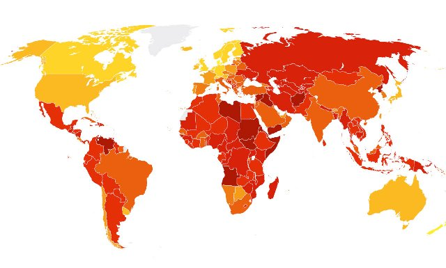 Corruption Perception Index, Albania ranks 83rd