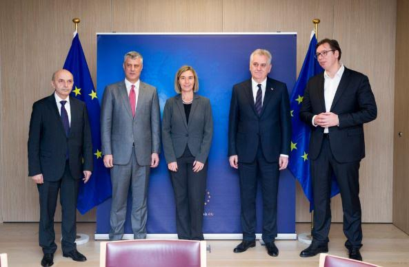 Kosovo's and Serbia's delegations meet in Brussels