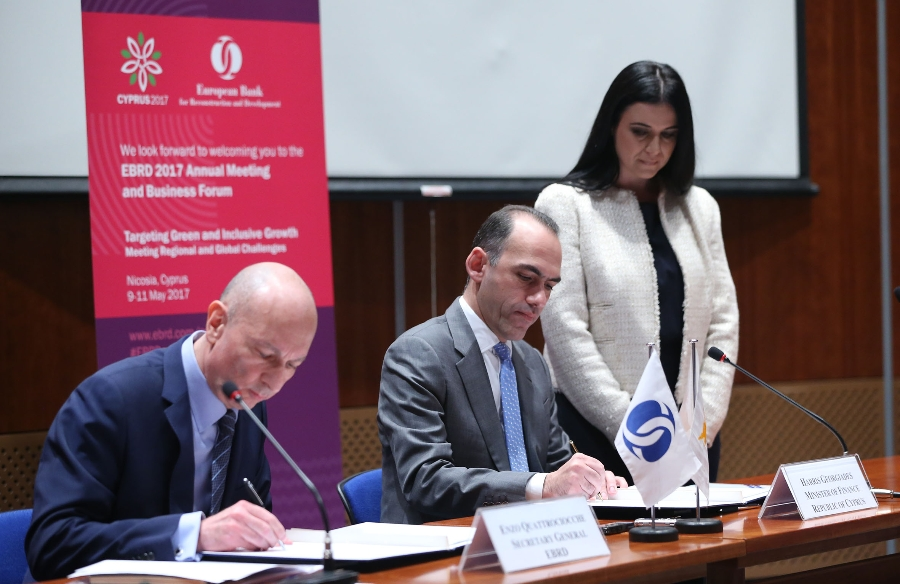 Signing of Memorandum for the organization in Cyprus of EBRD Annual General Meeting and Business Forum