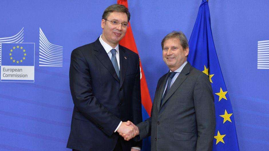 Hahn and Kurz praise Serbia and Vucic
