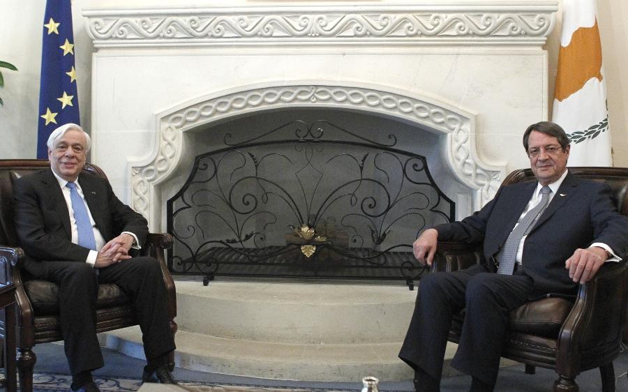Anastasiades – Pavlopoulos hold meeting in Nicosia