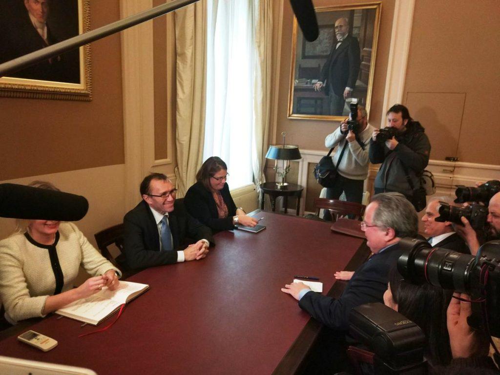 Kotzias – Eide meeting on Cyprus a success
