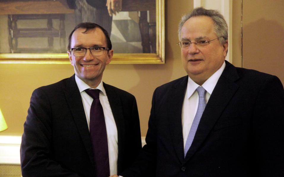 Espen Barth Eide in Athens to discuss Cyprus issue