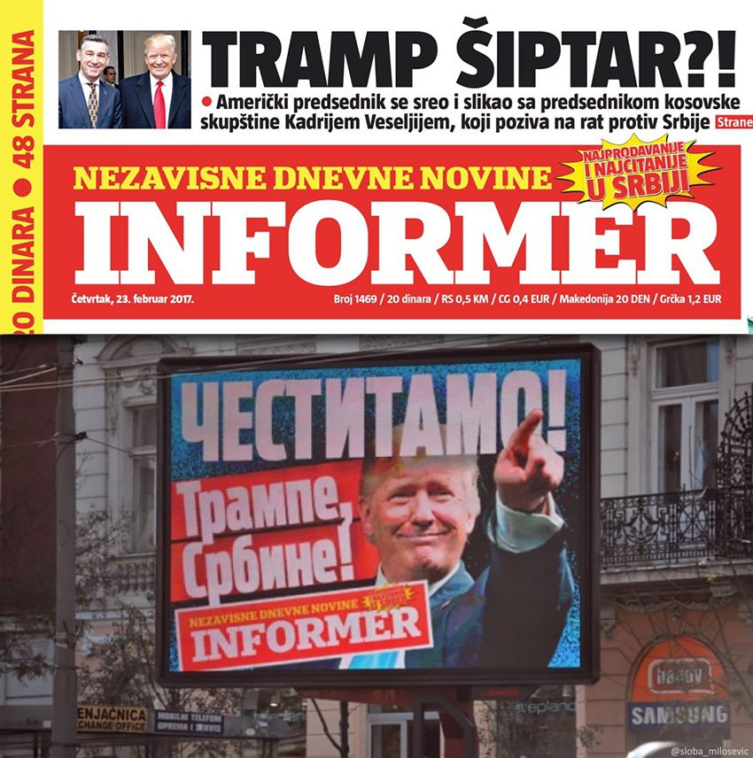 Serbs become disillusioned with Trump