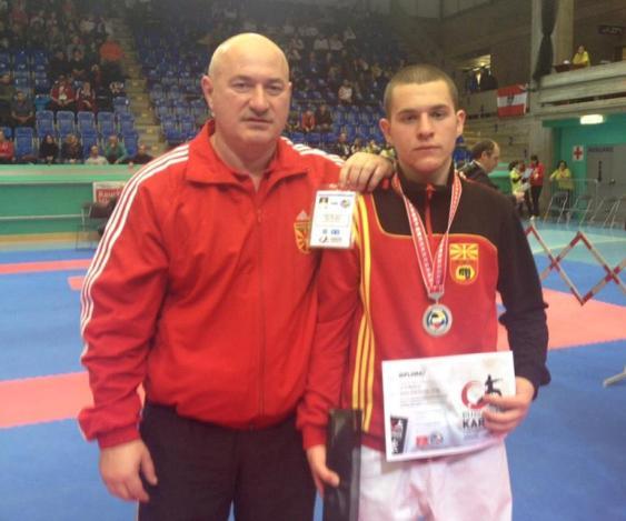 Zaborski wins the bronze medal in the Karate European Championship